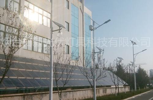龙口石良镇政府太阳能路灯安装实例